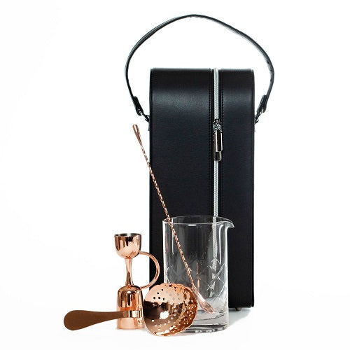 Urban Bar Copper Martini Set in TCB Pro Bar Bag