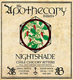 Apothecary Nightshade Chile Chickory Bitters, 4 oz (seasonal)