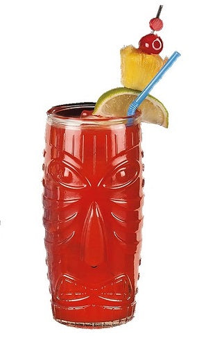Tall Clear Tiki Glass, 20 oz
