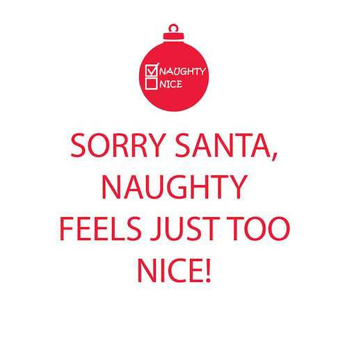 Cocktail Napkins: Sorry Santa, naughty feels just too nice!