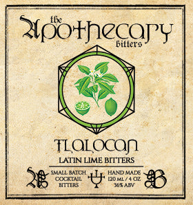 Apothecary Tlalocan Latin Lime Bitters, 4 oz