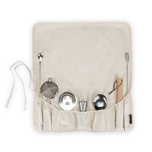 Viski Professional Canvas Bar Tool Roll Up