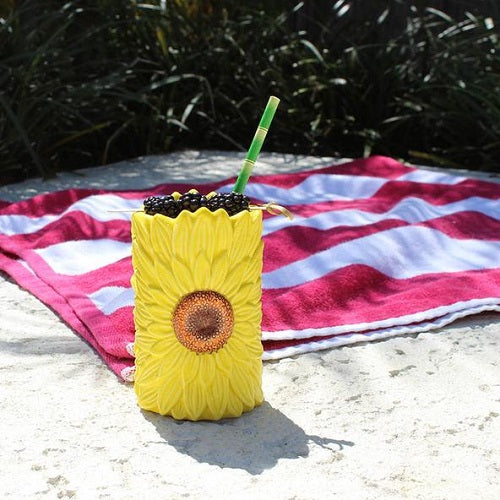 Sunflower Tiki Mug - 12 oz