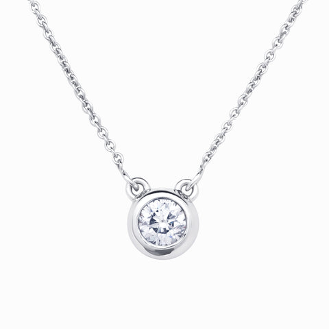750 18k White gold 1.5ct Diamond pendant Simple classic Berlin