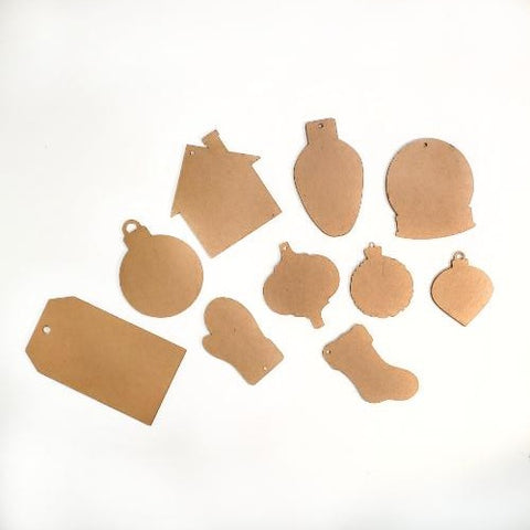 Popular Christmas Ornament Bundle ~ Set of 10 Different Shapes