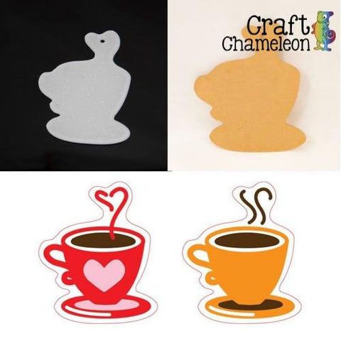 Coffee or Tea Cup Acrylic Shape - CraftChameleon  - 1