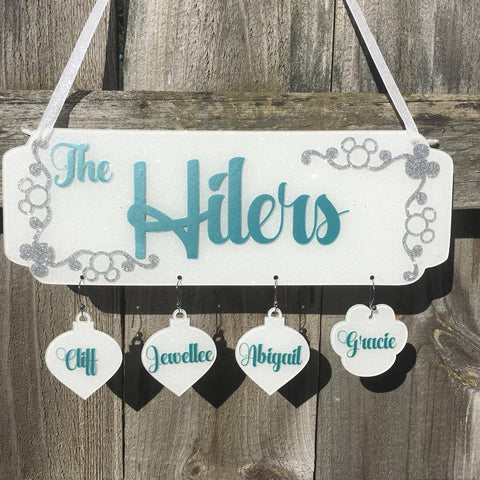 GLITTER Christmas Holiday or Family Sign Board - CraftChameleon  - 1