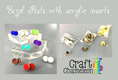 14mm Bezel Earrings DIY - CraftChameleon  - 1