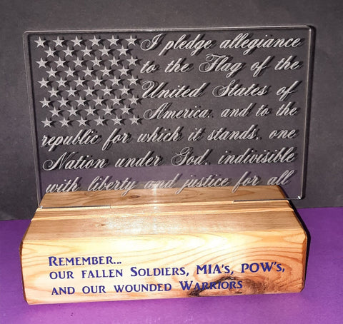 Memorial Day Wooden Block Design by ONE Designs DESIGN ONLY