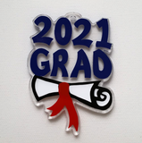Grad with Dipoloma ~Multiple Years ~Blank Shaped Acrylic