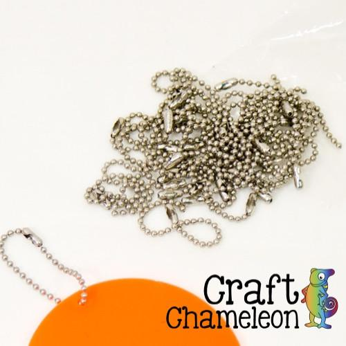 "Set of 25 ~ 4"" Ball Chains with Connector - CraftChameleon"