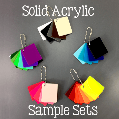 Solid Color Acrylic Sample Sets - CraftChameleon