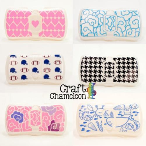 Set Of 6 Baby Wipes Blank Travel Case Craftchameleon