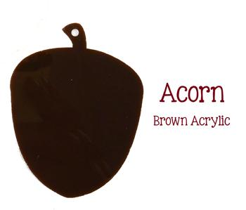 Acorn Acrylic Blank Shape ~ Multiple Sizes - CraftChameleon