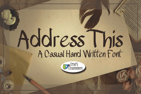 Address This Font - A Casual Hand Written Font - CraftChameleon