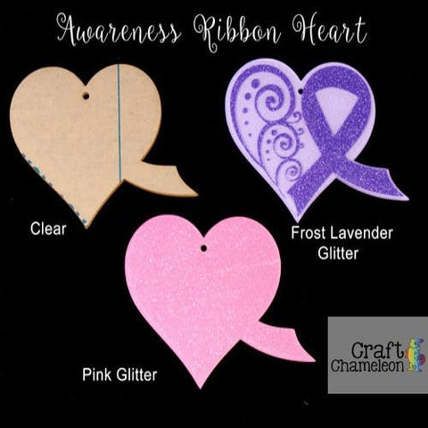 Acrylic Shaped Awareness  Heart - CraftChameleon  - 1