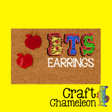 Apple Acrylic Shaped DIY Earrings - CraftChameleon