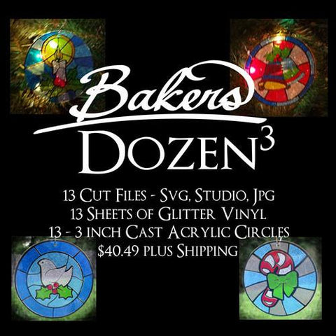 Bakers Dozen3 Faux Stained Glass Acrylic Kits - CraftChameleon  - 1