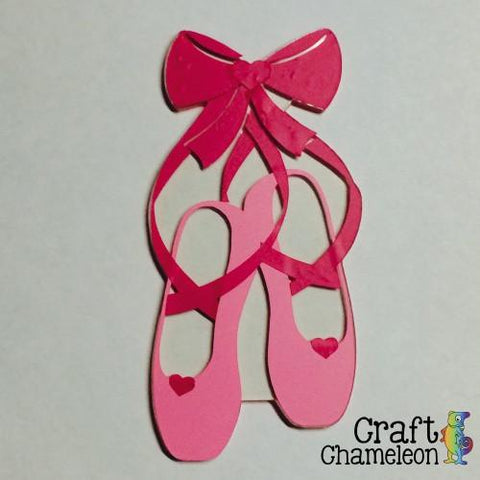 Ballet Shoes Ballet Slippers Acrylic Shape - CraftChameleon  - 1