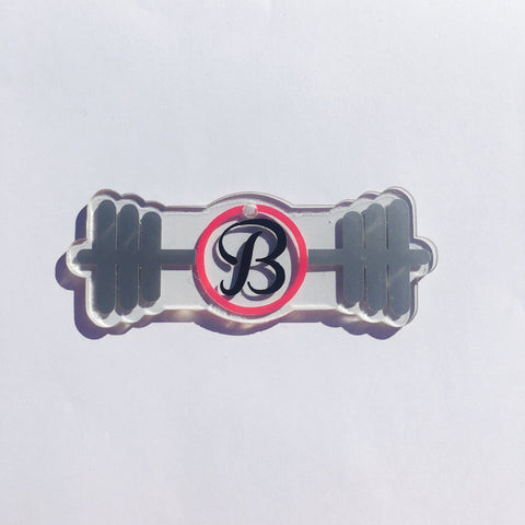Barbell Weight Lifting Monogram Shaped Acrylic - CraftChameleon  - 1