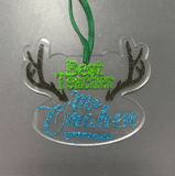 Antlers with space for Personalization Shaped Acrylic - CraftChameleon