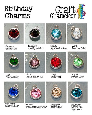 Birthday  Cut Glass Charms - CraftChameleon