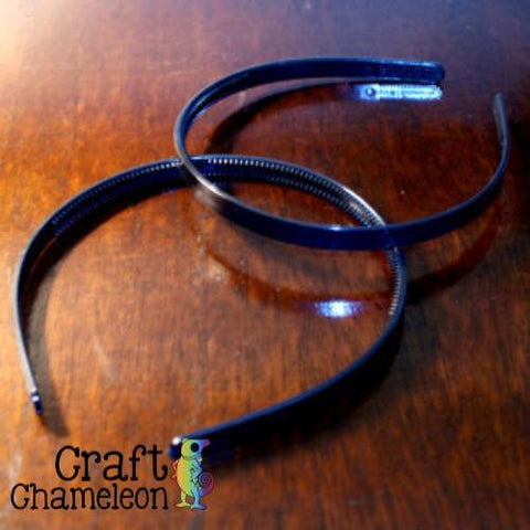 Set of 12 ~ 9mm Flat Topped Plastic Headbands - CraftChameleon