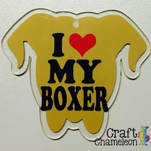 Boxer Dog Head Acrylic Shape - CraftChameleon  - 1