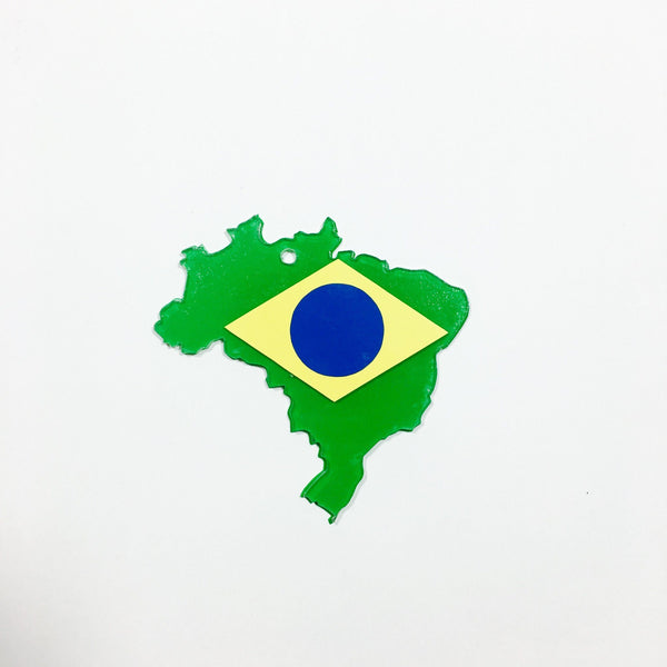 Brazil Shaped Acrylic - CraftChameleon  - 1