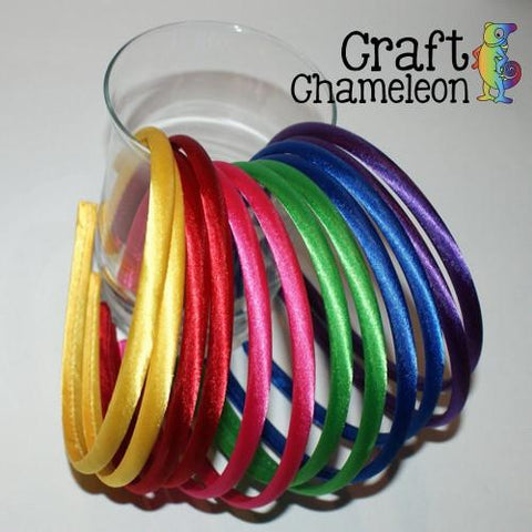 Set of 12 ~ Satin Headbands Standard Size - CraftChameleon  - 1
