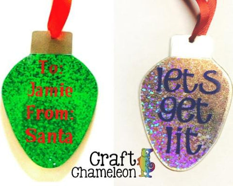 Christmas Bulb Acrylic Ornament - CraftChameleon  - 1
