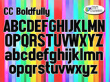 "Acrylic  Blank Letters CC Boldfully ~ 3"" ~ Multiple Colors - CraftChameleon"