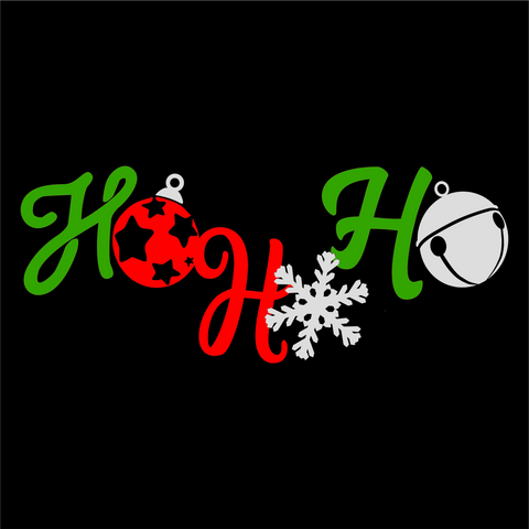 Ho Ho Ho Wordart Digital Design - CraftChameleon