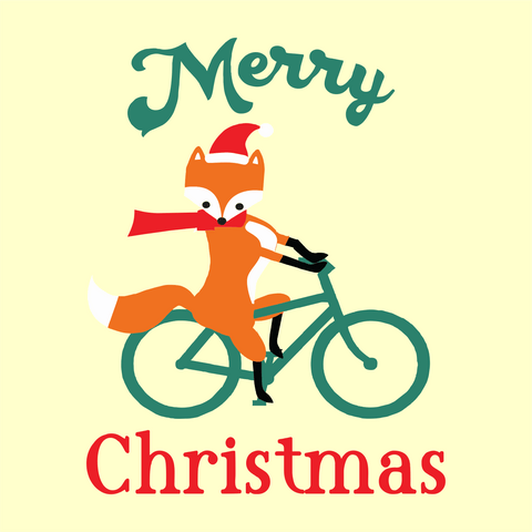Merry Christmas Fox Digital Design