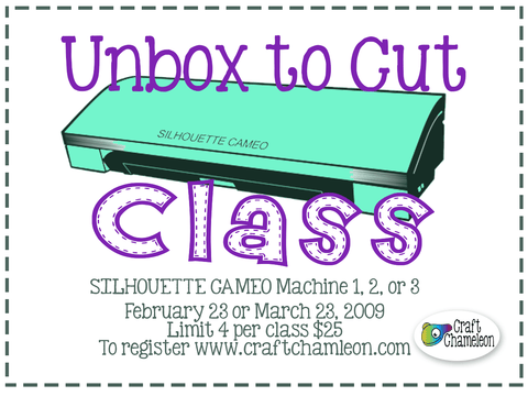 Silhouette Cameo Beginner 1 - Unbox to Cut Class - 4 Students per class