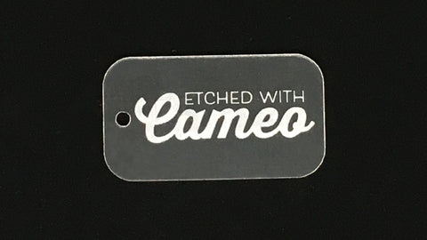 CSD Blank Clear or Color Acrylic Etching on Cameo 3 Bundle
