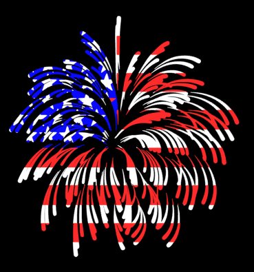 American Flag Firework Digital Design