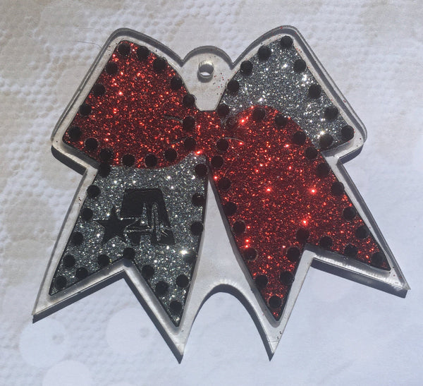 Cheer Bow Shaped Acrylic - CraftChameleon  - 1