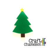Set of 10 ~ Christmas Tree Charm Shaped Acrylic - CraftChameleon  - 1