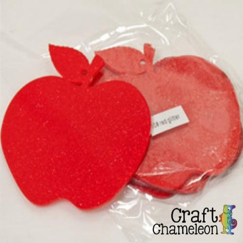 "Set of 5 ~ 3"" Apple Acrylic Shape - CraftChameleon  - 1"