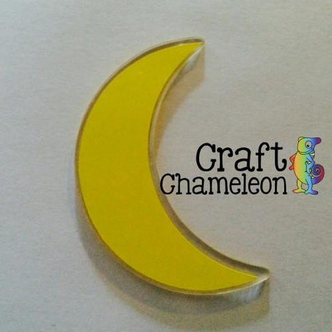 Crescent Moon Acrylic Shape - CraftChameleon  - 1
