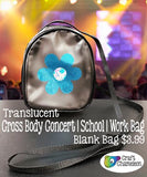 Blank Translucent Cross Body Concert School Work Purse - CraftChameleon