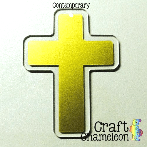 "Set of 5 ~ 3"" Cross Acrylic Shape - CraftChameleon  - 1"