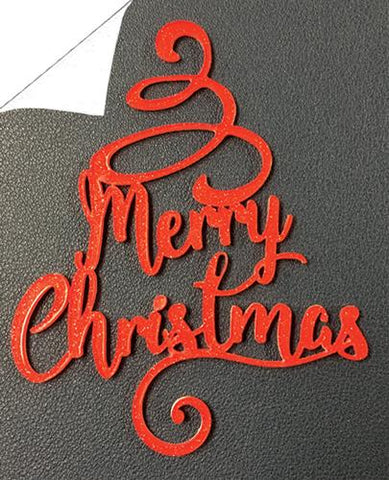 Merry Christmas Wordart Acrylic Shape