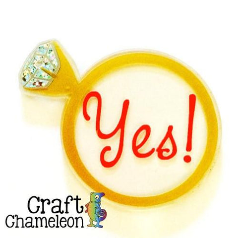 Diamond Ring Acrylic Shape - CraftChameleon  - 1