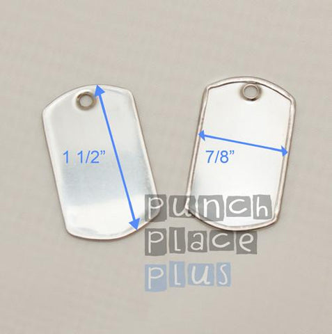 Mini Stainless Steel Dog Tags - CraftChameleon