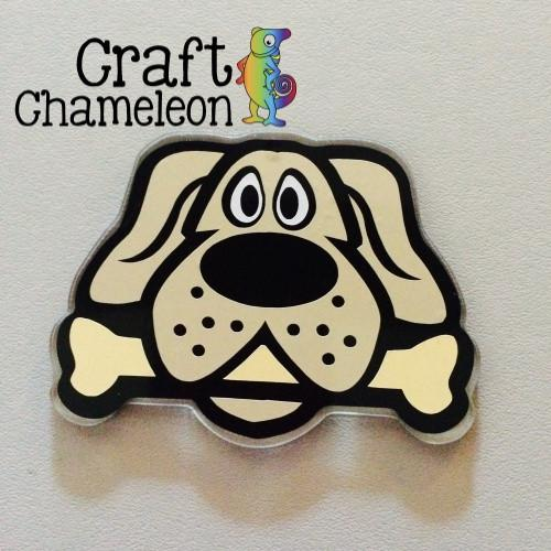 Dog with Bone Acrylic Shape - CraftChameleon  - 1
