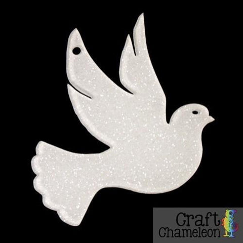 Set of 10 ~ Dove Charm Shaped Acrylic - CraftChameleon  - 1