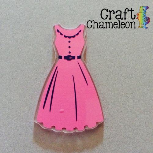 Dress Acrylic Shape - CraftChameleon  - 1
