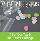 DIY Easter Egg Blank Acrylic Glitter Earrings ~ Set of 5